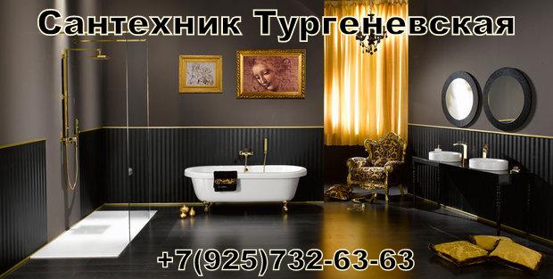Сантехник Тургеневская недорого