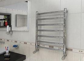 Монтаж установка полотенцесушителя в ванной скрытого монтажа